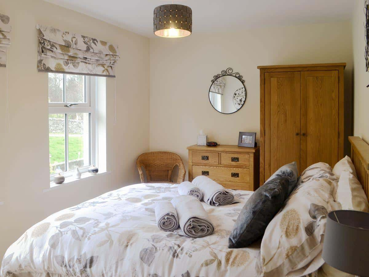 Main bedroom of Drakestone Cottage, Northumberland. One of Karen's Kottages.