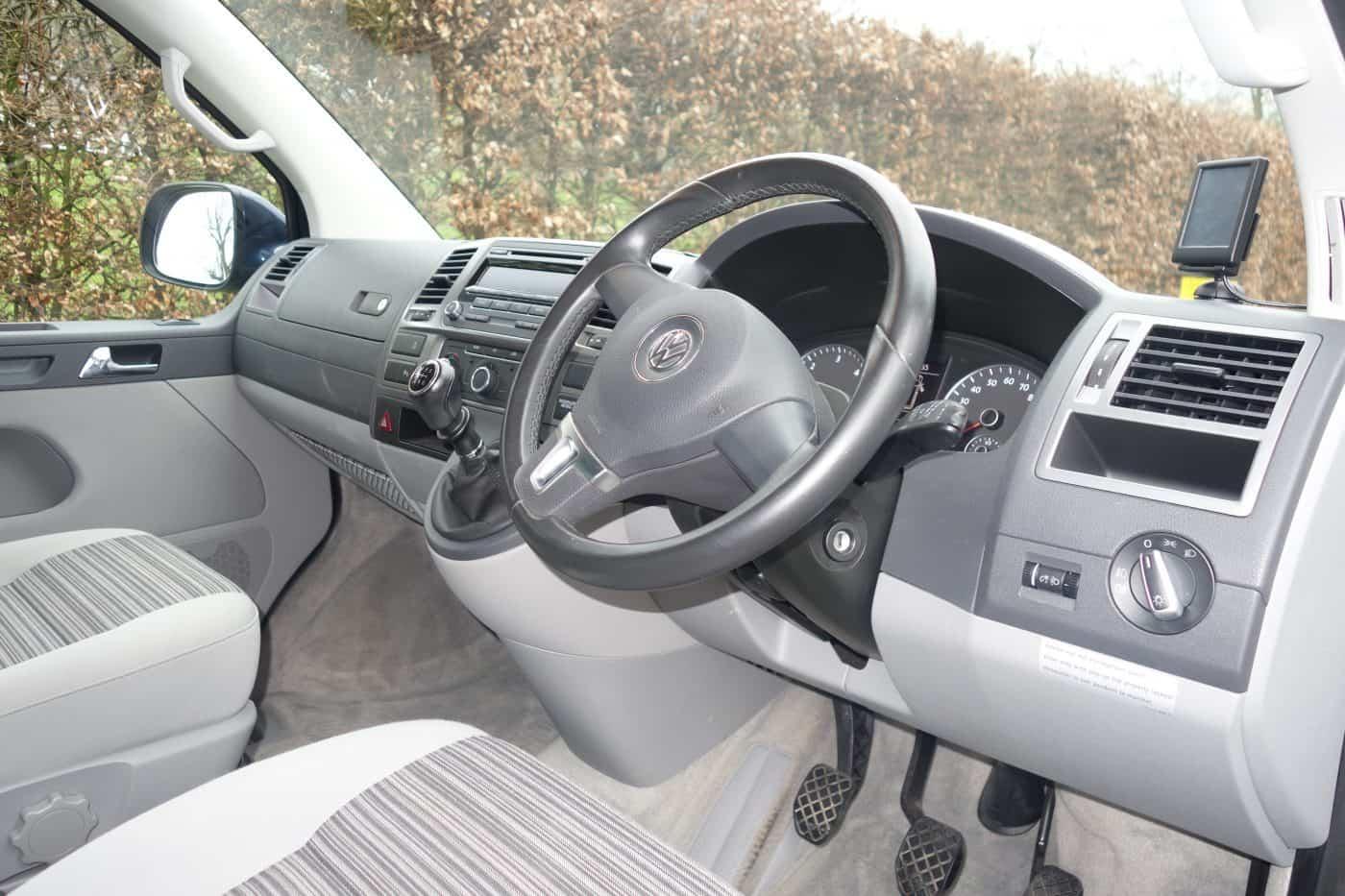 Karen's Kottages VW California camper van hire Northumberland - driver's seat and steering wheel
