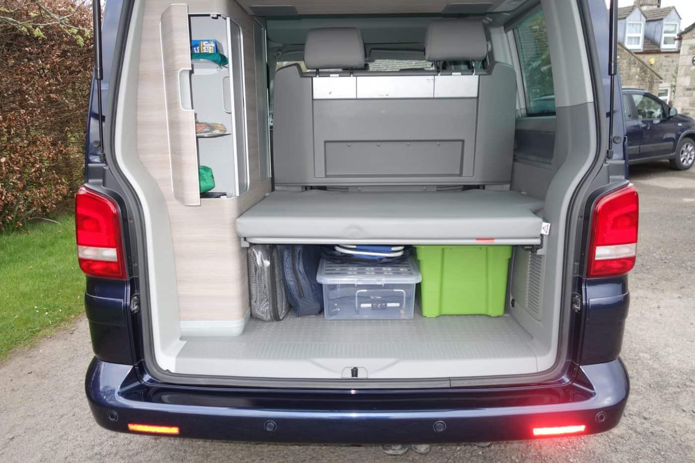 Karen's Kottages VW California camper van hire Northumberland - boot