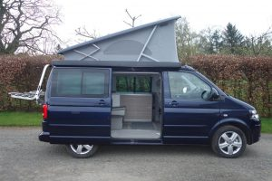 VW California camper van at Karen's Kottages with the roof open
