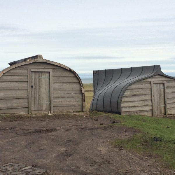 Boat sheds Lindisfarne
