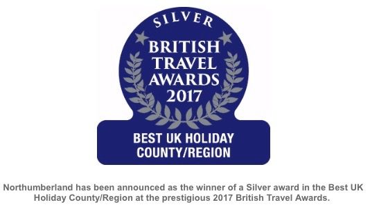 Northumberland – Silver Award for Best UK Holiday County/Region 2017