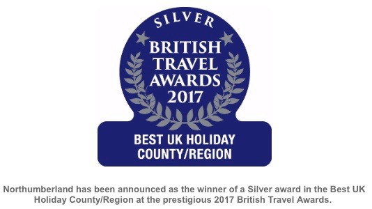 British Travel Awards Logo - Northumberland best UK Holiday County/Region