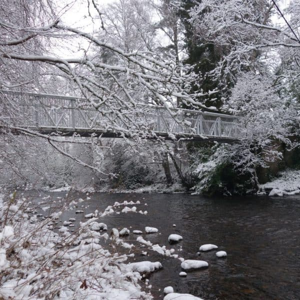 River Coquet in Harbottle near Drakestone Cottage in Northumberland. Karen's Kottages.