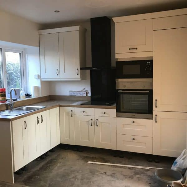 New kitchen at Stanegate Cottage in Fourstones, Northumberland. Karen's Kottages