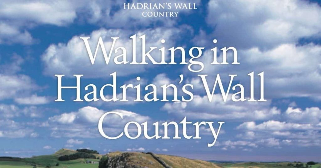Waking Hadrian's Wall near Stanegate Cottage in Northumberland