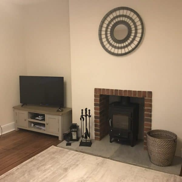 new living room at Stanegate Cottage in Northumberland, dog-friendly. Karen's Kottages