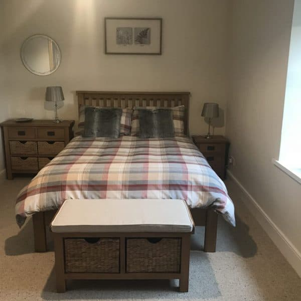 New bedroom at Stanegate Cottage in Northumberland. Karen's Kottages - dog friendly