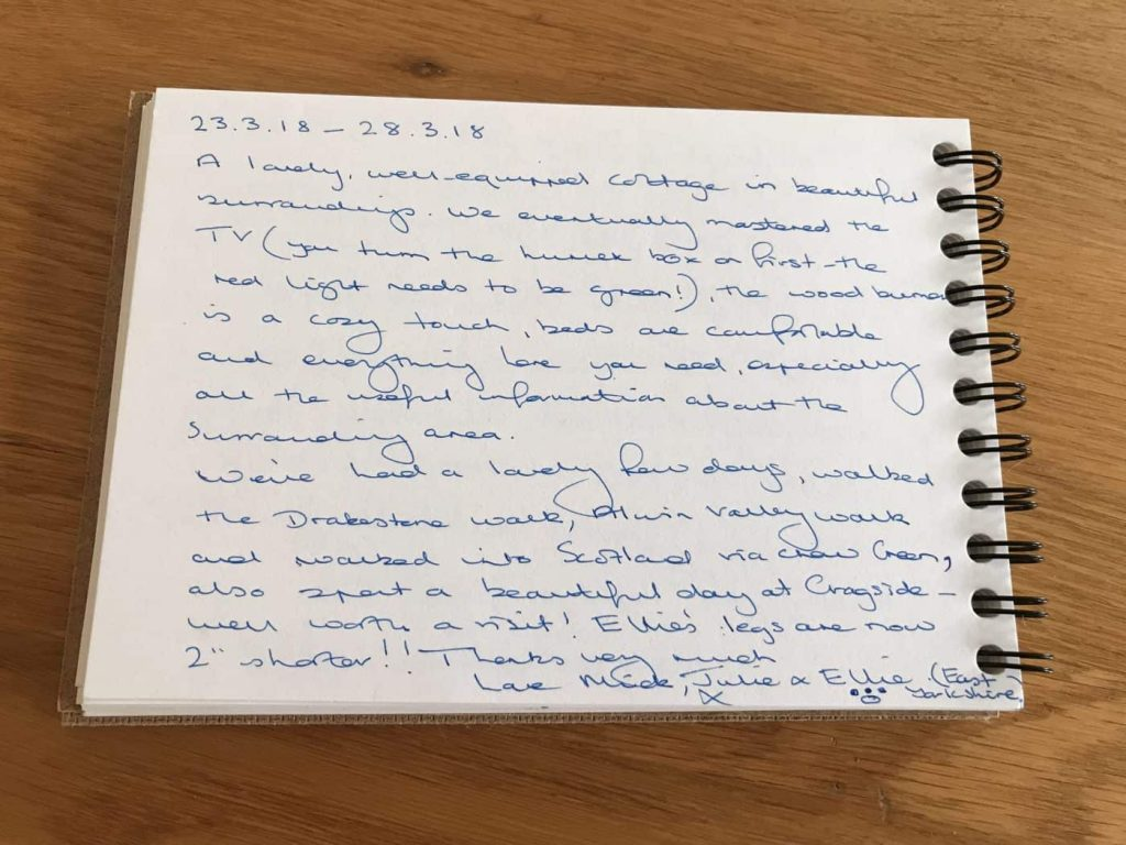 Karen's Kottages - customer feedback - Drakestone Cottage in Northumberland