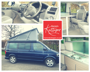 Karen's Kottages - VW California camper van hire in Northumberland - dog friendly