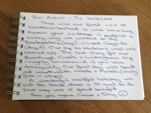 Karens kottages - Northumberland - guestbook review for drakestone Cottage near rothbury - dog friendly holiday cottages