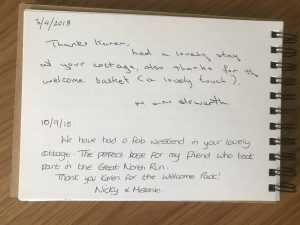 karens kottages - stanegate cottage - northumberland - guest book review
