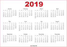 2019 calendar - karens cottages - northumberland - holiday cottages self catering - dog friendly