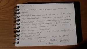 Karens kottages in northumberland. Guest book review at Stanegate Cottage. Dog friendly Hadrian's wall area. Self catering cottages