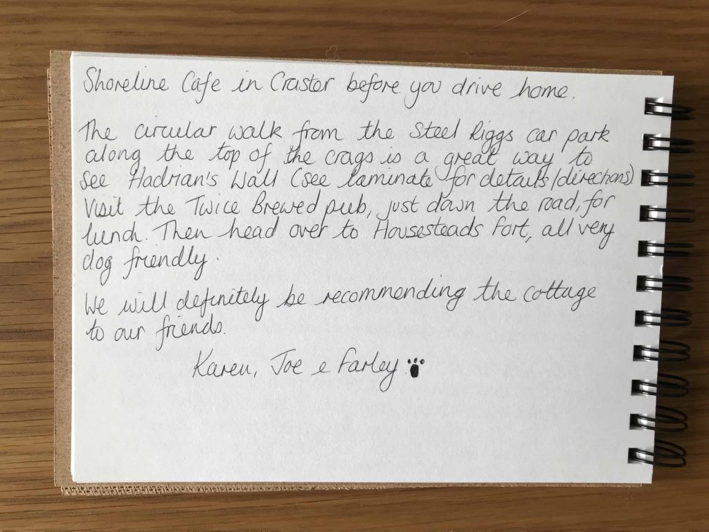 Karens kottages northumberland. Guestbook review for Stanegate Cottage near Hadrian's wall and hexham