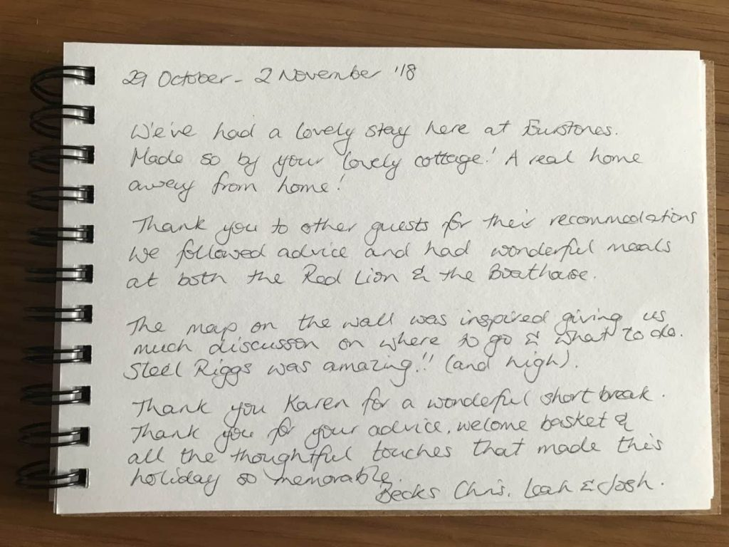 karens kottages northumberland - self catering holiday cottage - dog friendly - guest book review