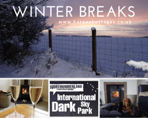karens kottages - winter in northumberland - short breaks - dog friendly - cosy self catering holiday cottage - drakestone cottage and stanegate cottage