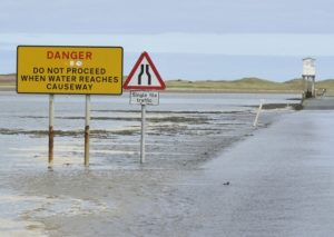 Holy Island of Lindisfarne Safe Crossing Times - dog friendly - northumberland coast AONB - self catering dog friendly holiday accommodation