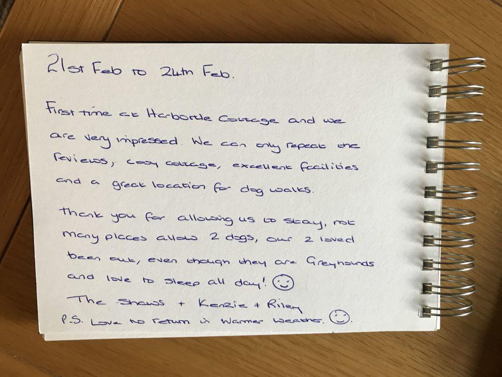 Customer review, Drakestone Cottage, Northumberland